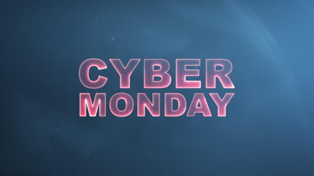 Cyber Monday Advertisement Text Banner