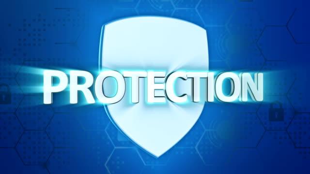 cyber-sicherheit und schutz-schild-konzept - schutzschild stock-videos und b-roll-filmmaterial