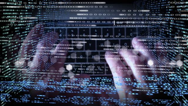 vídeos de stock e filmes b-roll de cyber security crime montage - montagem