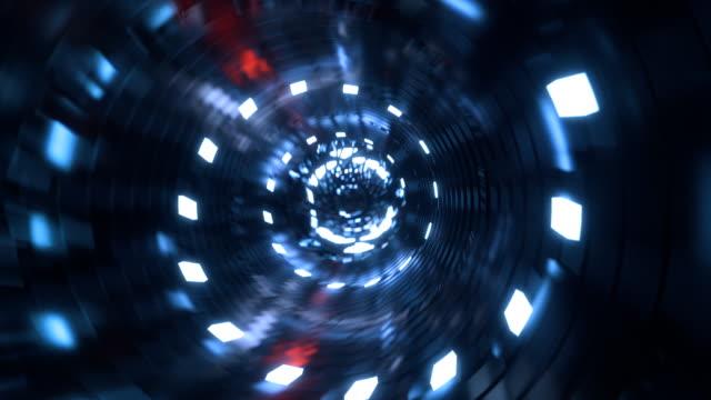光るセンターとサイバー トンネル - コンピュータハードウェア点の映像素材/bロール