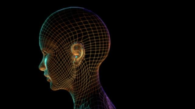 Cyber-Frau Gesicht-Bionic Tech