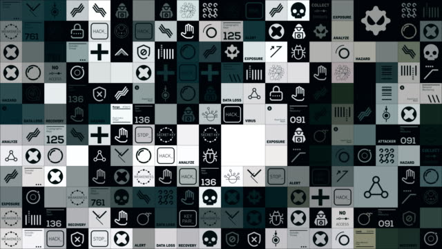 cybersecurity-symbole - schutzschild stock-videos und b-roll-filmmaterial