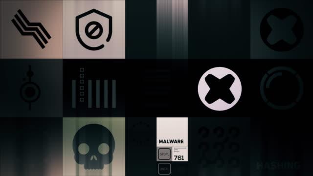 vídeos de stock, filmes e b-roll de símbolos de segurança cibernética - sob proteção