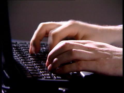 london: hands on keyboard - cyberspace stock videos & royalty-free footage