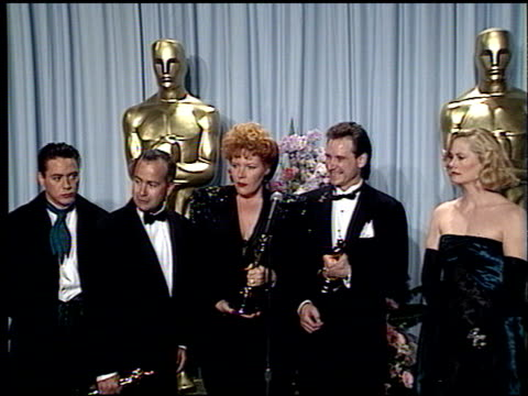 cybill shepherd at the 1989 academy awards at the shrine auditorium in los angeles, california on march 29, 1989. - 61st annual academy awards stock videos & royalty-free footage