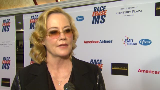 cybill shepherd on being a part of the night her glam rock attire walking in the show and how she's been preparing for tonight her advice for those... - race to erase ms stock videos and b-roll footage