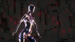 Cyborg hip hop dancing