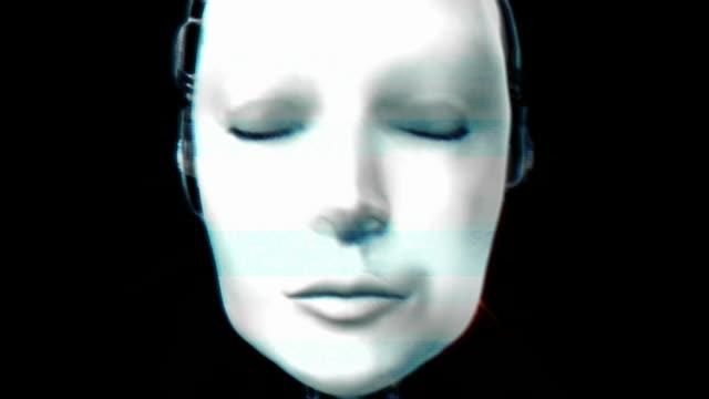 vidéos et rushes de androïde - battre des paupières