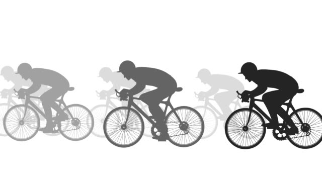 cycle rider, silhouette - cycling event stock videos & royalty-free footage