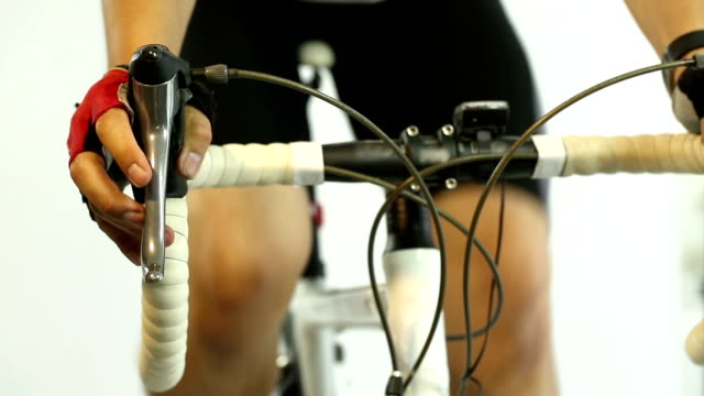 Cycler riding on bike