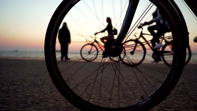 cycling by the sea - wheel stock videos & royalty-free footage