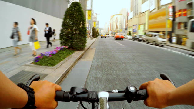 Cycling in Ginza, Tokyo