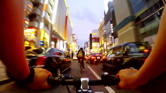 Cycling in Ginza, Tokyo-4K-