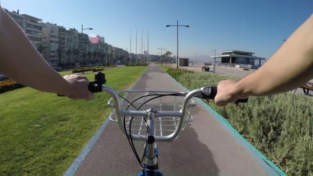 pov: cycling in izmir - izmir stock videos & royalty-free footage