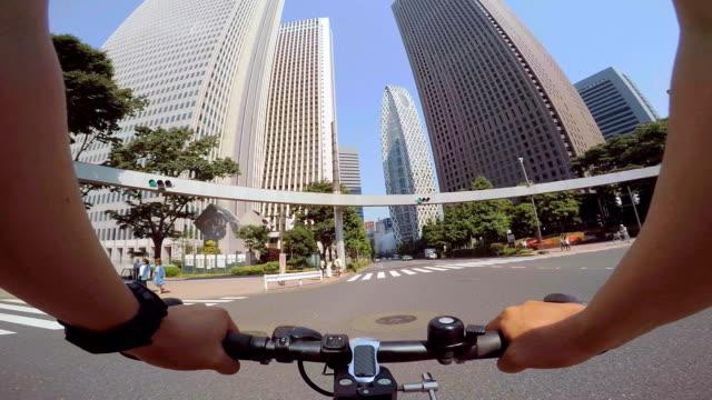 Cycling in Shinjuku, Tokyo