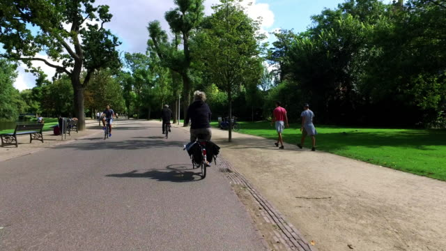 POV: Cycling in Vondelpark Amsterdam