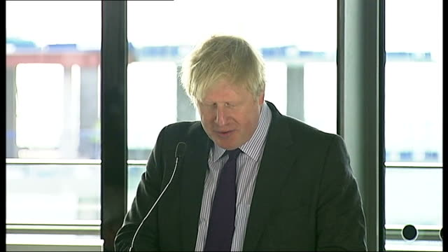 three london boroughs to become 'mini holland' cycling havens; england: london: city hall: int boris johnson press conference sot - kingston a major... - major road video stock e b–roll