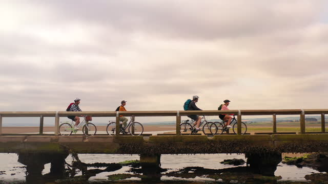 cycling with friends - journey stock videos & royalty-free footage