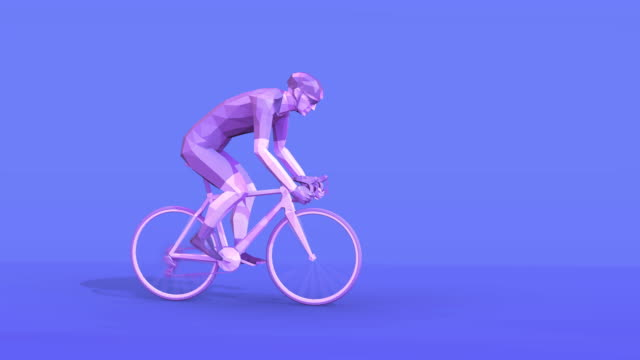 vídeos de stock, filmes e b-roll de cycling_loop animação - triatleta