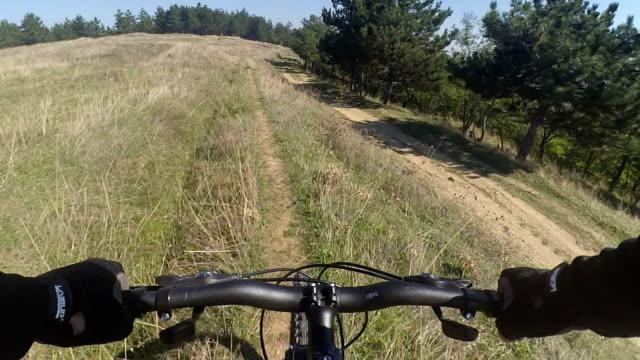 Cyclist and his mountain bike