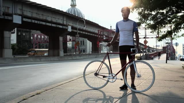 Cyclist in brooklyn