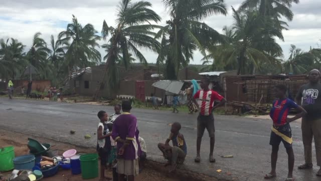 cyclone kenneth a category three storm on the hurricane scale pounded northern mozambique only a month after the country was hit by some of the worst... - mozambique stock videos & royalty-free footage