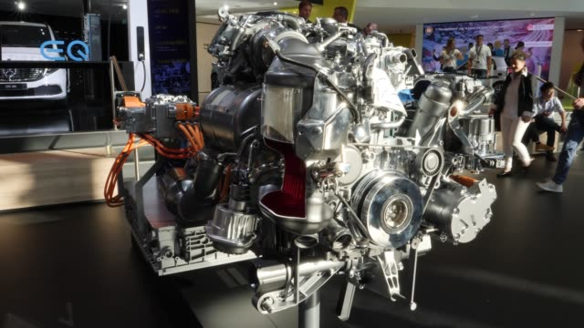 cylinder diesel plug-in-hybrid from mercedes -benz gle 350 de 4matic with a lithium-ion battery can be seen at the company's booth at the 2019 iaa... - lithium ion battery stock videos & royalty-free footage