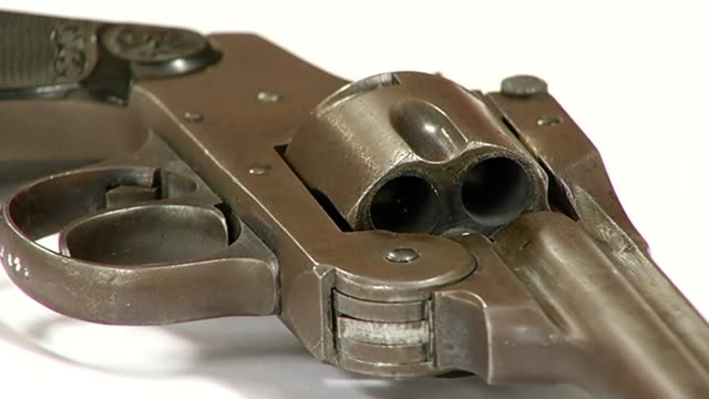 cylinder of confiscated handgun on december 17 2013 in chicago illinois - cylinder stock videos & royalty-free footage