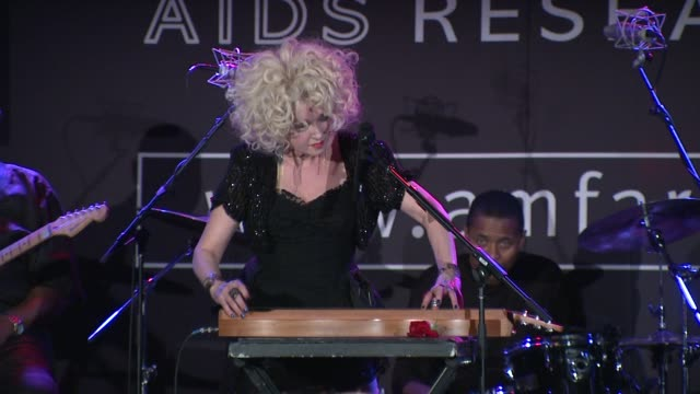 stockvideo's en b-roll-footage met cyndi lauper at the 2010 amfar new york inspiration gala at new york ny. - cyndi lauper