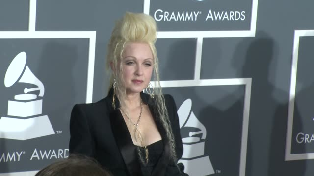 stockvideo's en b-roll-footage met cyndi lauper at the 51st annual grammy awards part 4 at los angeles ca. - cyndi lauper