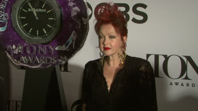 cyndi lauper at the 67th annual tony awards arrivals at radio city music hall on june 09 2013 in new york new york - annual tony awards stock videos & royalty-free footage