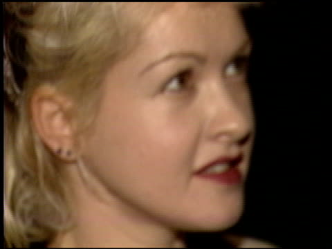 cyndi lauper at the prince of darkness premiere at universal cineplex odeon in universal city california on october 1 1987 - film premiere stock videos & royalty-free footage