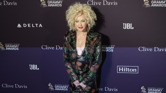 stockvideo's en b-roll-footage met cyndi lauper at the recording academy and clive davis' 2020 pre-grammy gala at the beverly hilton hotel on january 25, 2020 in beverly hills,... - cyndi lauper