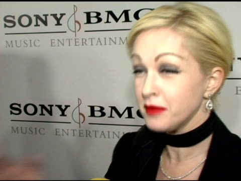 stockvideo's en b-roll-footage met cyndi lauper at the sony / bmg grammy awards party at the roosevelt hotel in hollywood, california on february 13, 2005. - cyndi lauper