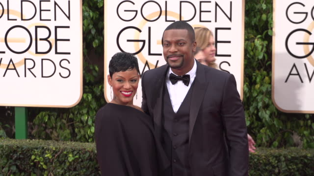 Cynne Simpson and Chris Tucker at 73rd Annual Golden Globe Awards Arrivals at The Beverly Hilton Hotel on January 10 2016 in Beverly Hills California...
