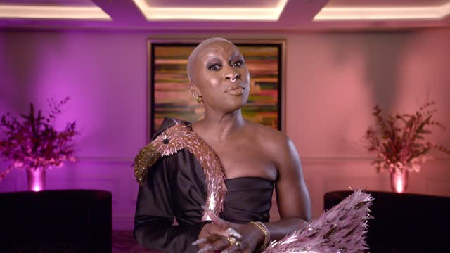 cynthia erivo at the 29th annual elton john aids foundation academy awards viewing party on april 25, 2021. - oscar party stock videos & royalty-free footage