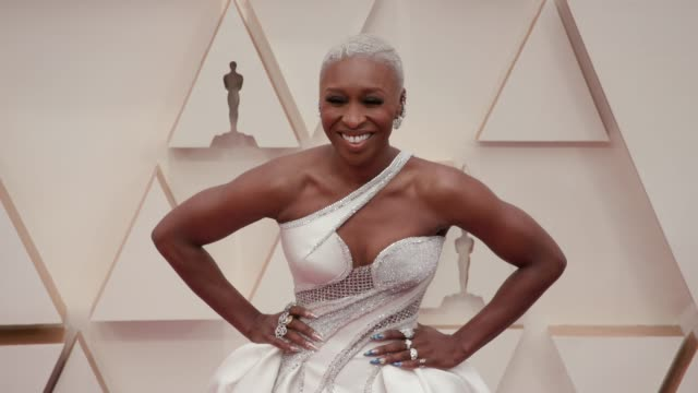 vídeos de stock e filmes b-roll de cynthia erivo at the 92nd annual academy awards at the dolby theatre on february 09 2020 in hollywood california - cerimónia dos óscares