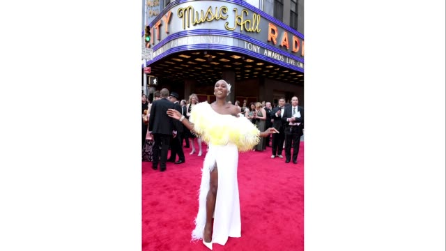cynthia erivo attends the 73rd annual tony awards at radio city music hall on june 09, 2019 in new york city. - annual tony awards stock videos & royalty-free footage