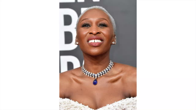cynthia erivo attends the 77th annual golden globe awards at the beverly hilton hotel on january 05, 2020 in beverly hills, california. - ゴールデングローブ賞点の映像素材/bロール