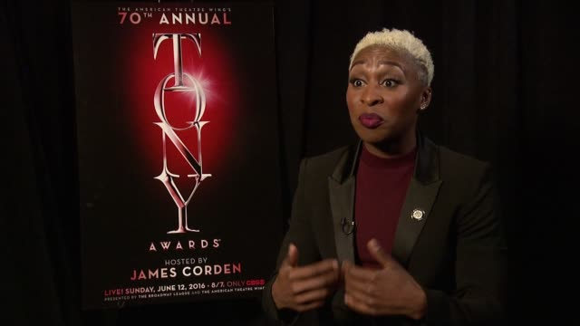 cynthia erivo discusses how this nomination is like a dream. talks about the difference in audiences, and gives advice to women about what you need... - interview stock videos & royalty-free footage
