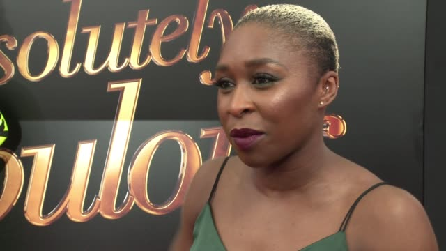 interview – cynthia erivo talks about being excited the ab fab movie she talks about being a fan and what a big moment it is for england to have this... - absolutely fabulous stock videos and b-roll footage