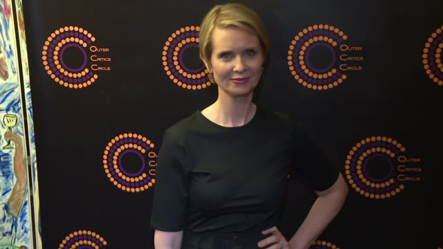 cynthia nixon at 67th annual outer critics circle theatre awards at sardi's on may 25 2017 in new york city - cynthia nixon stock videos and b-roll footage