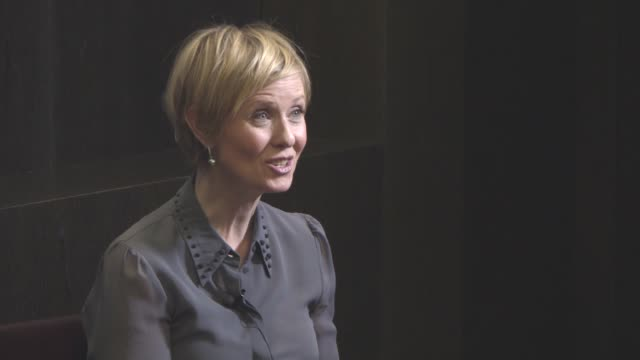 cynthia nixon at 'a quiet passion' interview 66th berlin international film festival at grand hyatt hotel on february 14 2016 in berlin germany - cynthia nixon stock videos and b-roll footage