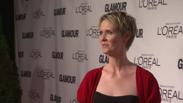 cynthia nixon at glamour magazine's 22nd annual women of the year awards at carnegie hall on november 12 2012 in new york new york - cynthia nixon stock videos and b-roll footage