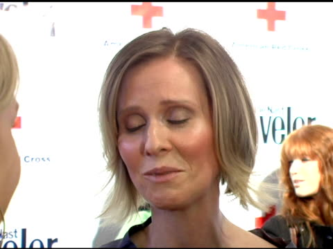 cynthia nixon at the 2007 conde nast traveler hot list party arrivals at the bowery hotel in new york new york on april 19 2007 - cynthia nixon stock videos and b-roll footage