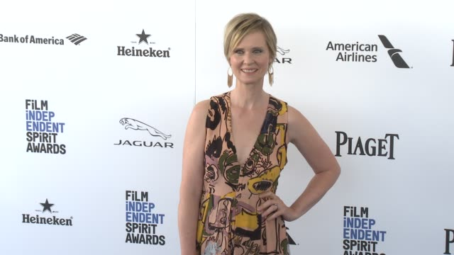 cynthia nixon at the 2016 film independent spirit awards arrivals on february 27 2016 in santa monica california - cynthia nixon stock videos and b-roll footage