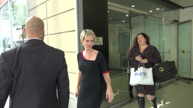 cynthia nixon at the 'anderson live' studio in new york ny on 09/27/12 - cynthia nixon stock videos and b-roll footage