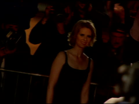 cynthia nixon at the cond nast traveler 2006 annual hot list party at buddha bar in new york new york on april 18 2006 - cynthia nixon stock videos and b-roll footage
