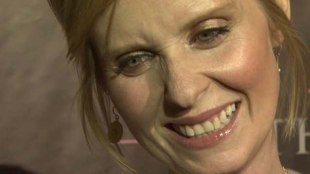 cynthia nixon at the dvd launch party for sex and the city the movie extended cut at new york ny - cynthia nixon stock videos and b-roll footage