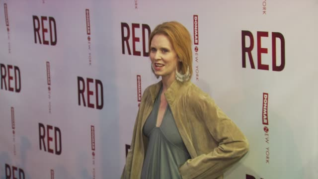 cynthia nixon at the 'red' broadway opening night arrivals at new york ny - cynthia nixon stock videos and b-roll footage